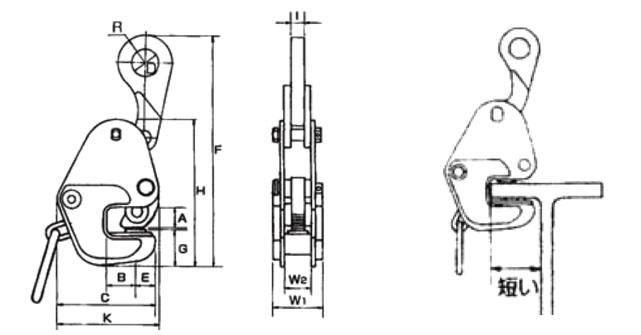 横吊钢板起重钳CAD