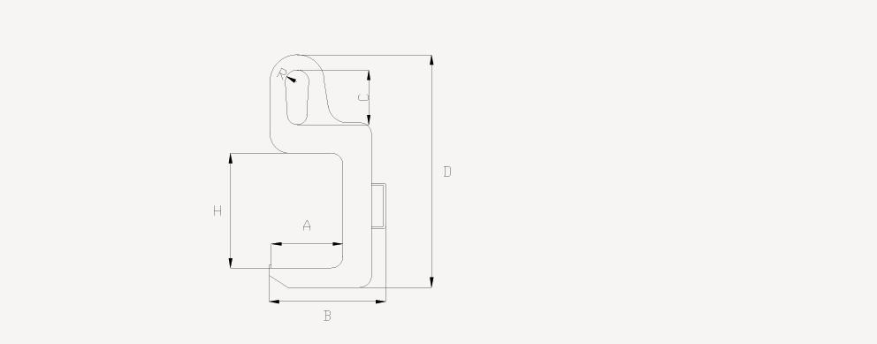 单板C型钩CAD